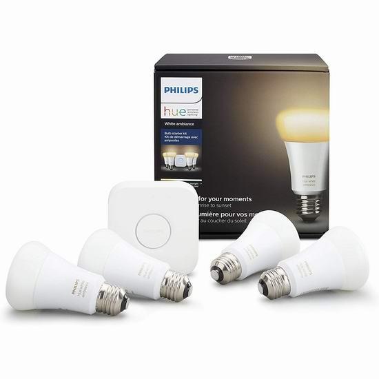 金盒头条:精选多款 Philips 飞利浦 Hue 智能灯泡、灯条及智能焕彩家庭照明系统6折起!