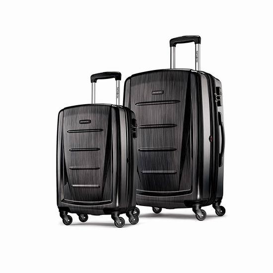 速抢!历史新低!Samsonite 新秀丽 Winfield 2 20+28寸 全PC 超轻拉杆行李箱2件套2.5折 149.99加元包邮!2色可选!比黑五便宜50加元!