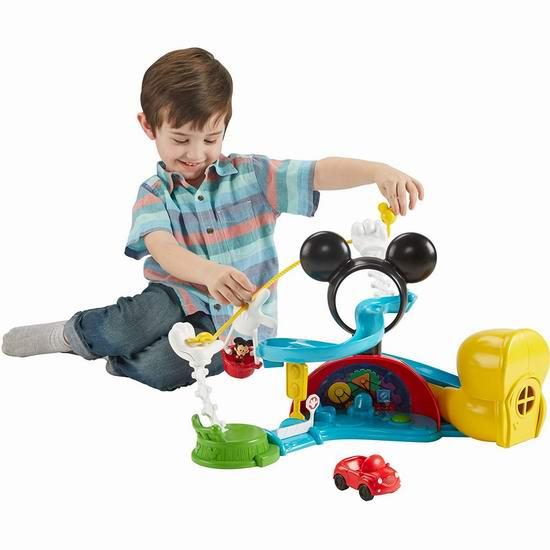 Fisher-Price 费雪 迪士尼 米奇热气球滑梯会所 玩具套装6.1折 24.46加元!