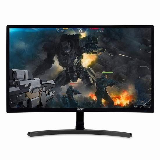 手慢无!历史新低!Acer 宏碁 ED242QR 23.6英寸 144Hz VA电竞曲面显示器3.9折 129加元包邮!