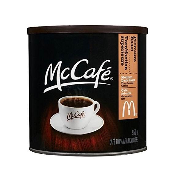 Mccafe 麦当劳优质烘培研磨咖啡 950克 15.98加元,原价 18.99加元