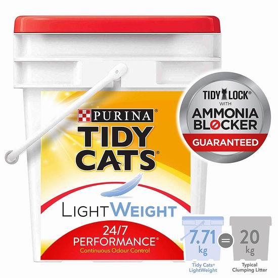 历史新低!Tidy Cats 24/7 轻质猫砂(7.71公斤)5.2折 12.53加元包邮!