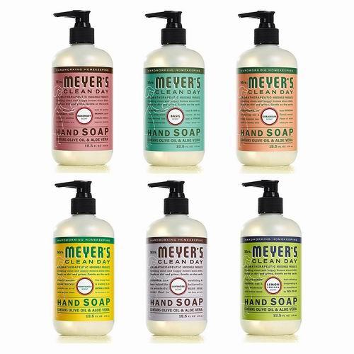 Mrs. Meyer's 梅耶太太 天然洗手液 370毫升 3.98加元(原价 5.99加元),多款可选!