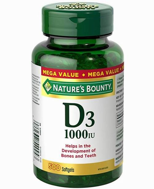 Nature's Bounty 维生素D3 助吸收钙 500粒 10.35加元,原价 12.87加元