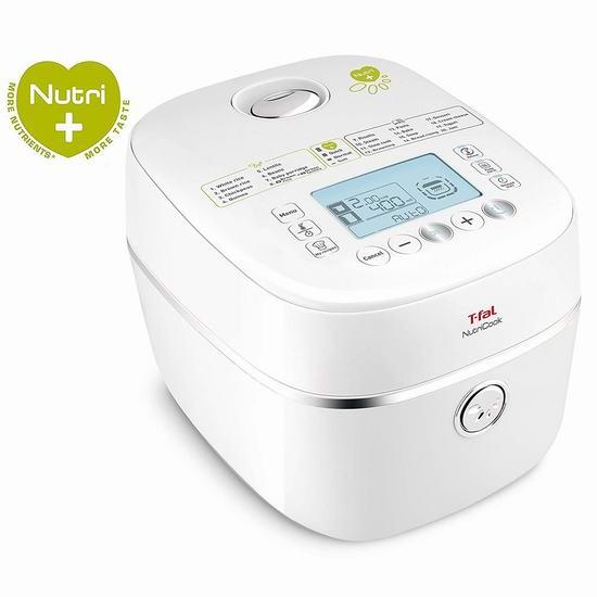 黑五价:历史新低!T-fal RK900151 Nutricook 82合一 多功能全营养电饭煲4折 99.97加元包邮!