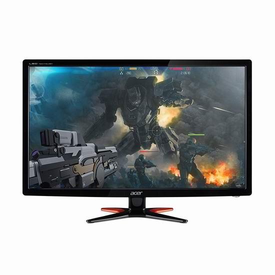 售价大降!历史新低!Acer 宏碁 GN246HL Bbid 144Hz 1ms响应 24英寸 全高清游戏显示器5.3折 132.97加元包邮!