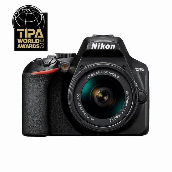 售价大降!历史新低!Nikon 尼康 D3500 DX-Series 单反相机 + AF-P DX NIKKOR 18-55mm 镜头套装5.8折 379加元包邮!