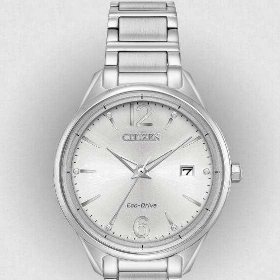 白菜价!Citizen 西铁城 FE6100-59A 施洛华世奇水晶 女士光动能腕表/手表2.3折 82.18加元包邮!