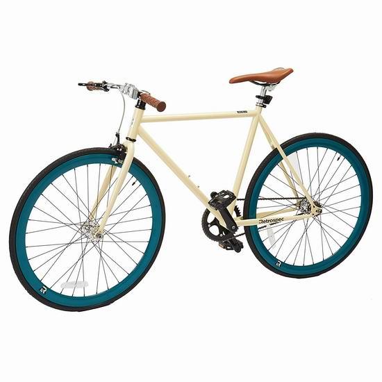 白菜价!历史新低!Retrospec Mantra Fixie 怀旧复古 小号单速自行车2.8折 116.26加元包邮!
