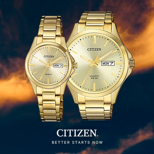 历史新低!Citizen 西铁城 BF2003-84P 男士金色腕表/手表 106.36加元包邮!