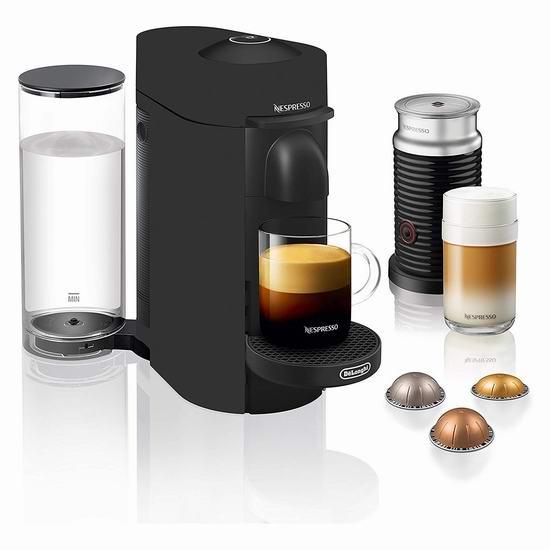 金盒头条:历史新低!Nespresso ENV150BMBAECA De'Longhi VertuoPlus  胶囊咖啡机 + 奶泡机套装 149.99加元包邮!