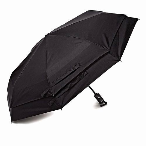历史新低!Samsonite 新秀丽 Windguard 双层防风自动雨伞5折 17.57加元!