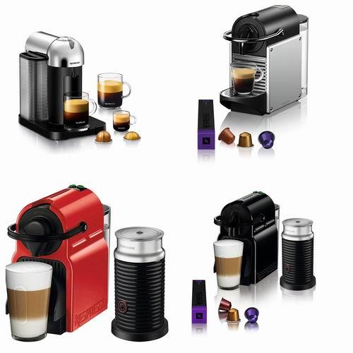 精选Nespresso Pixie/ Inissia/Vertuo /Essenza系列咖啡机 5.5折 99加元起特卖!