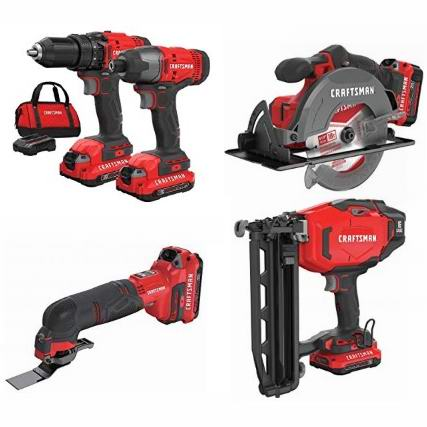 精选多款 Craftsman 电钻、电锯、电铲、钉枪等电动工具5.8折起!