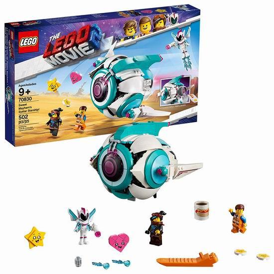 历史新低!LEGO 乐高 70830 乐高大电影2 甜美梅亨的西斯塔太空船(502pcs)6折 54加元包邮!