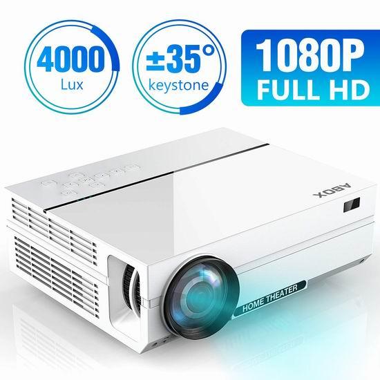 GooBang Doo ABOX 3900流明 1080P全高清 家庭影院LED投影仪 267.99加元限量特卖并包邮!