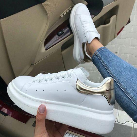 潮人最爱 Alexander McQueen 小白鞋 4.8折起,422加元入小白鞋 ,入baby、黄晓明同款!