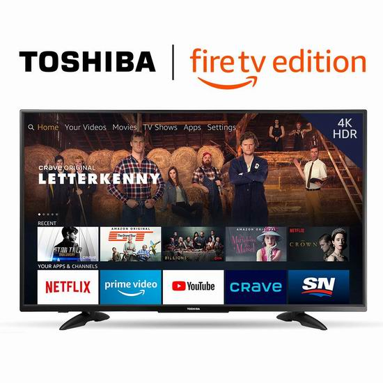 Toshiba 东芝 43LF711C20 43英寸 4K UHD超高清 Fire TV版智能电视 349.99加元包邮!