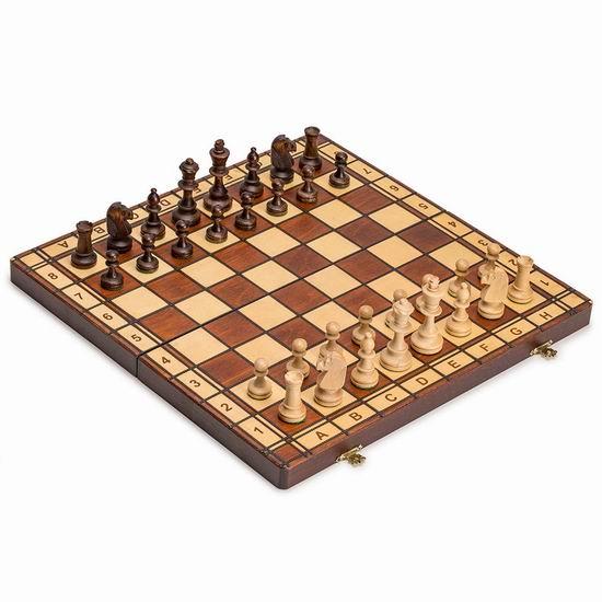 历史新低!Wegiel Jowisz 可折叠实木 国际象棋套装 22.54加元!
