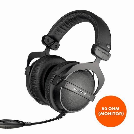 历史新低!Beyerdynamic 拜亚动力 DT 770 M 80 Ohm 头戴式耳机 179.99加元包邮!