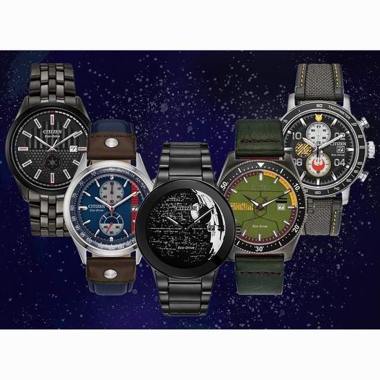 手慢无!Citizen 西铁城 Star Wars 星球大战 限量版腕表/手表5.7折 256-327加元限量特卖并包邮!5款可选!