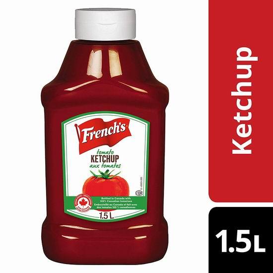 历史新低!French's 法式番茄酱(1.5升)2.41加元!