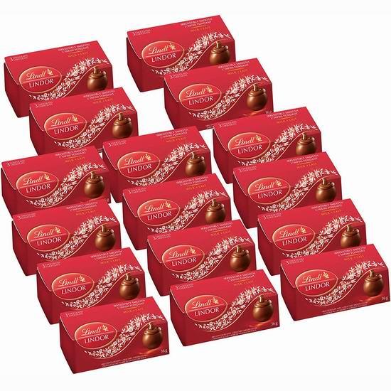 历史新低!Lindt 瑞士莲 Lindor 软心牛奶巧克力(48粒, 576克)5.9折 16.99加元!