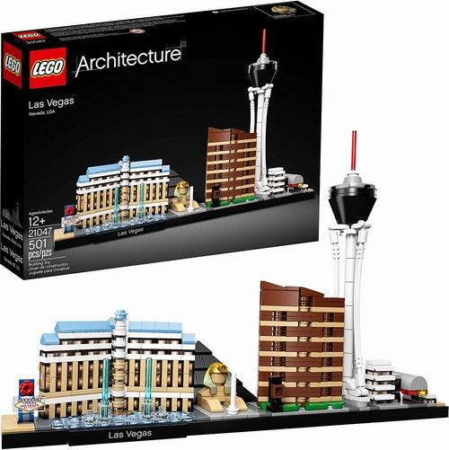 LEGO 乐高 21047 建筑系列 拉斯维加斯天际线 39.99加元,原价 49.99加元,包邮
