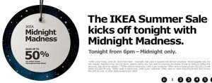 Ikea Midnight Madness Sale 25折起 今晚6时开始仅限店内