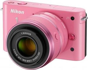 Nikon 1 S1 with 10-30 and 30-110mm VR尼康粉红、卡其色微单双镜头相机