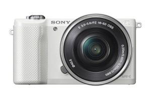 Sony a5000 Mirrorless Camera最轻巧索尼白色微单相机