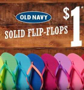 Old Navy 6月28日本周六Flip Flops人字拖凉鞋店内1元