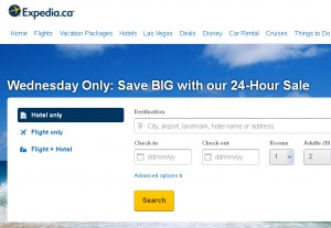 Expedia机票宾馆今日特惠Wednesday Only: Save BIG with our 24-Hour Sale