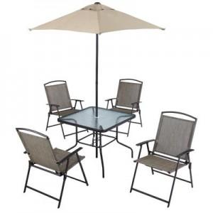 6 pc folding dining set庭院座椅