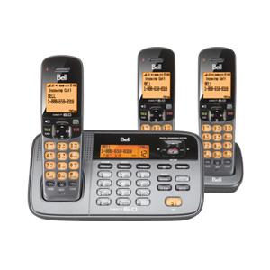 翻新BELL D1785-3T DECT 6.0 DIGITAL CORDLESS ANSWERING SYSTEM WITH KEYPAD BASE无绳电话