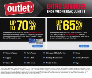 Sears Outlet Extra Savings指定类别清仓货品6-7折