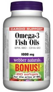 Webber Naturals® Omega-3 Wild Salmon & Fish Oils深海三文鱼油210丸装