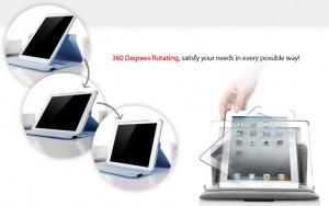 8种颜色iPad mini 360 degrees Rotating Case