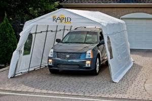 保护你的爱车!Rapid Car Shelter 11' X 20'冬夏全天候简易车库
