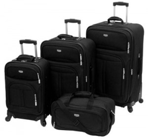 Quest® Compass 360黑色四件套行李箱
