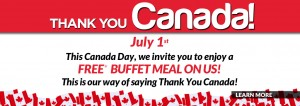 Mandarin自助餐厅Canada Day当日加拿大公民免费就餐