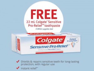 免费高露洁高效抗过敏牙膏试用装Colgate Sensitive Pro-Relief Toothpaste