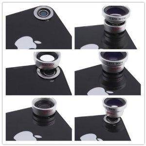 Detachable 3 in 1 Camera Lens Kit鱼眼广角微距磁吸式三合一手机镜头