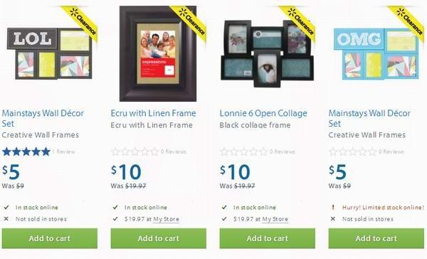 Walmart 4款相框半价5-10元清仓