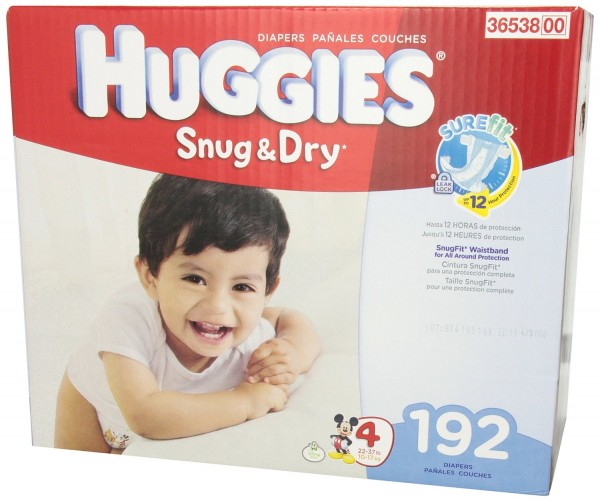 Huggies 舒适干爽婴儿纸尿布Snug and Dry Diapers, Step 4, Economy Plus, 192-Count