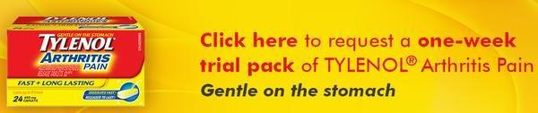 免费申请TYLENOL Arthritis Pain泰诺关节炎止痛片一周试用装