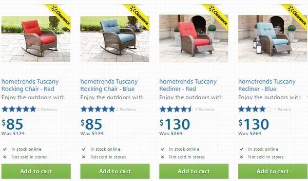 4款 hometrends Tuscany 室外藤椅半价85元起清仓