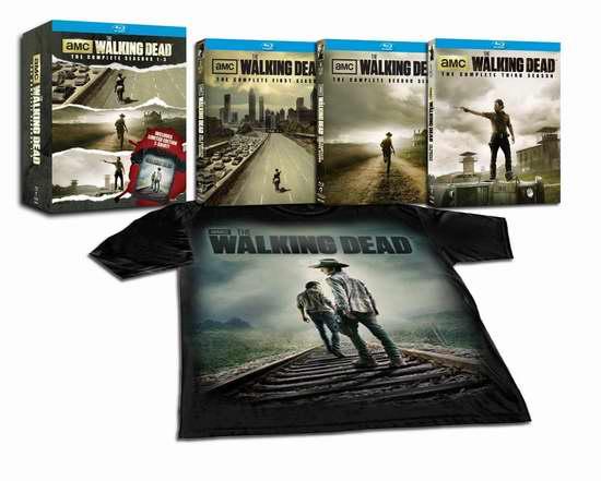 The Walking Dead: Seasons 1-3 《行尸走肉》1-3季限量版蓝光影碟套装送T恤