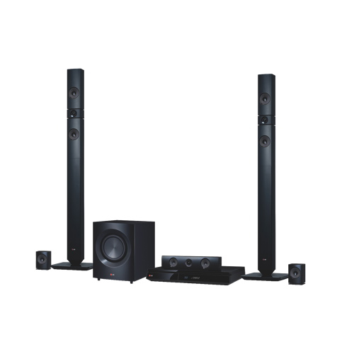LG 1200-Watt 5.1 Channel 3D Blu-ray Home Theatre System (BH7430PB) 5.1声道3D蓝光WiFi蓝牙家庭影院