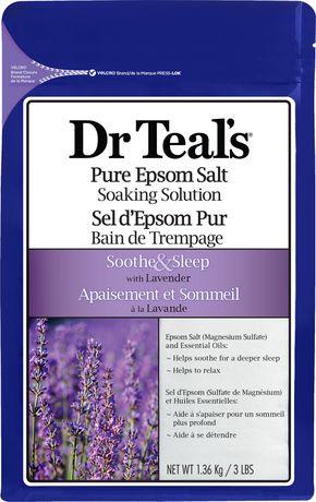 Dr Teal's Epsom Salt Soaking Solution with Lavender - 1.36 kg沐浴盐,舒缓疲劳减压促睡眠